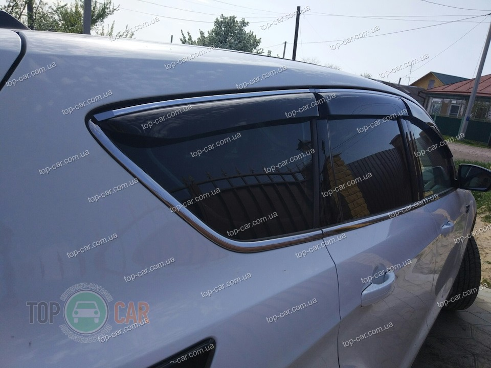 Ветровики СТ Ford Kuga 2013-/Escape 2012- CobraTuning F33413 - фото 6