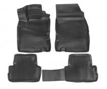 L.Locker Глубокие коврики в салон Nissan Qashqai 2014-  полиуретановые
