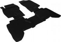 L.Locker Глубокие коврики в салон Nissan Navara  полиуретановые