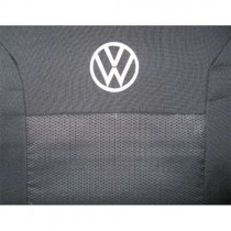 Авточехлы VW Polo sedan 2010-  цельная спинка Prestige