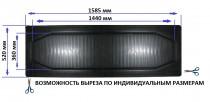 Резиновые универсальные коврики второй/третий ряд (бус) 1585х520 ХЗРТИ