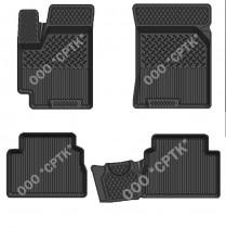 Глубокие резиновые коврики Chevrolet Aveo 2002-2012 SRTK (Саранск)