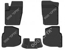 Глубокие резиновые коврики VW Polo Sedan 2010- SRTK (Саранск)
