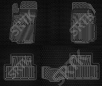 Глубокие резиновые коврики Chevrolet Aveo 2011- SRTK (Саранск)
