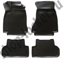 Глубокие коврики в салон Audi A4 (B9) 2015-  полиуретановые L.Locker