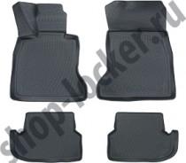 Глубокие коврики в салон BMW 5 series (F10,F11)  2013-  полиуретановые L.Locker