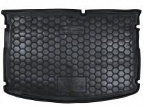 Полиуретановый коврик багажника Kia Rio 2015- hatchback без органайзера Avto Gumm