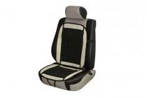 Накидка на сиденье с косточками черная