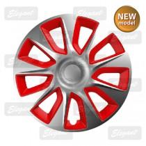 Колпак R13 STRATOS silver&red Elegant