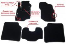 Prestige Коврики в салон текстильные Ford Mondeo 2007-2014