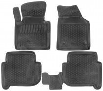 L.Locker Глубокие коврики в салон Volkswagen Touran 2003-2015 полиуретановые