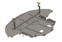 Кольчуга Защита двигателя Hyundai Sonata LF 2014- ZiPoFlex®