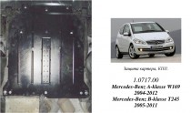 Кольчуга Защита двигателя Mercedes-Benz A-Class W169/B-Class W245 ZiPoFlex®