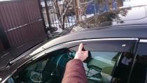 Дефлекторы окон Acura TLX 2014- с хромированным молдингом Cobra Tuning