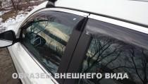 Дефлекторы окон Audi Q3 с хромированным молдингом Cobra Tuning