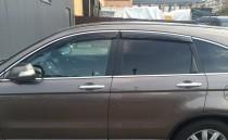 Дефлекторы окон Honda CR-V 2006-2012 с хромированным молдингом Cobra Tuning