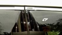 Дефлекторы окон Kia Ceed hatchback 5dr 2006-2013 с хромированным молдингом Cobra Tuning