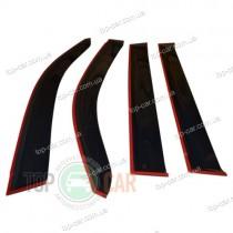 Cobra Tuning Дефлекторы окон Kia Cerato 2004-2009 с хромированным молдингом