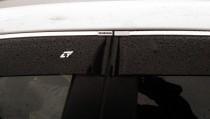 Дефлекторы окон Kia Sportage 2005-2010 с хромированным молдингом Cobra Tuning
