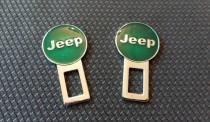 Заглушки ремней безопасности Jeep зеленые