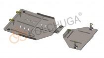 Кольчуга Защита раздатки и заднего моста Audi Q7 2005-2015 ZiPoFlex®