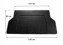 Резиновый коврик в багажник (размер S 140см*80см) Stingray