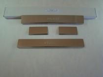 Накладки на пороги CHEVROLET AVEO III 4D/5D 2011- NataNiko