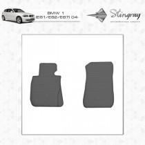Коврики резиновые BMW 1 (E81/E82/E87) передние Stingray