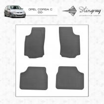 Stingray Коврики резиновые Opel Corsa C 00-