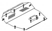 Кольчуга Защита двигателя Hyundai Santa Fe 2001-2006