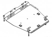 Кольчуга Защита двигателя Nissan Note 2005-2013, V 1.6 МКПП
