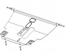 Кольчуга Защита двигателя Toyota Avensis II 2003-2009