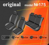 Оригинальные чехлы Hyundai Getz 5 дверей. задняя спинка деленная EMC