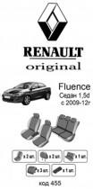 Оригинальные чехлы Renault Fluence 2009-2012 1.5D EMC