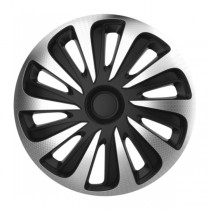 Колпаки 4Racing Caliber carbon silver&black R15 4 Racing