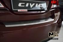 NataNiko Накладка с загибом на бампер Honda Civic IV 4D FL 2013-