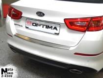 NataNiko Накладка с загибом на бампер Kia Optima III FL 2013-2015