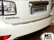 NataNiko Накладка с загибом на бампер Nissan Patrol 2010-