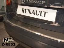 NataNiko Накладка с загибом на бампер Renault Fluence 2009-
