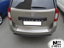 NataNiko Накладка с загибом на бампер Renault Logan MCV 2013-