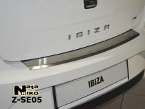 NataNiko Накладка с загибом на бампер Seat Ibiza IV 5D 2008-