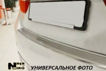 NataNiko Накладка с загибом на бампер Volvo S 80 2013-