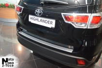NataNiko Накладка с загибом на бампер Toyota Highlander 2013-