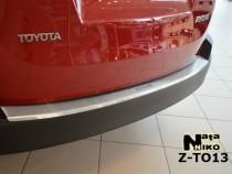NataNiko Накладка с загибом на бампер Toyota Rav 4 2012-