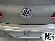 NataNiko Накладка с загибом на бампер VW Passat СС 2008-2011