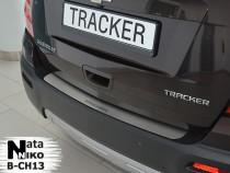 NataNiko Накладка на задний бампер Chevrolet Tracker 2012-