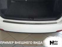 NataNiko Накладка на задний бампер Mazda 3 4D 2013-