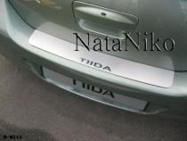 NataNiko Накладка на задний бампер Nissan Tiida 4D 2004-2014