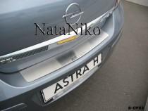 NataNiko Накладка на задний бампер Opel Astra H 4D