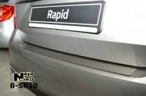 NataNiko Накладка на задний бампер Skoda Rapid